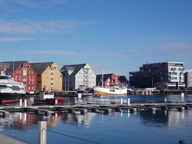 Merellinen maisema Tromssasta.