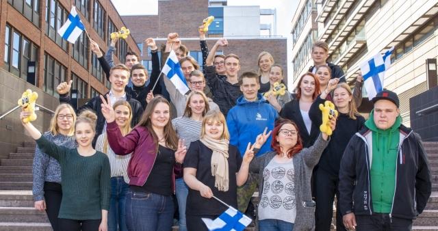 Suomen ammattitaitomaajoukkue EuroSkills 2018 Budapest-kilpailussa. (Kuva Skills Finland ry:n kuvapankki)