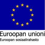 EU:n sininen lippulogo, jonka alla teksti Euroopan unioni ja Euroopan sosiaalirahasto