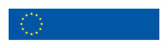 Euroopan unionin lippulogo, jossa sinisellä pohjalla keltaisia tähtiä ympyrän muodossa. Vieressä sininen teksti Erasmus+