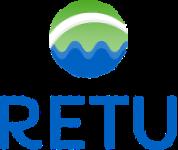 Logo, jossa sinistä ja vihreää.