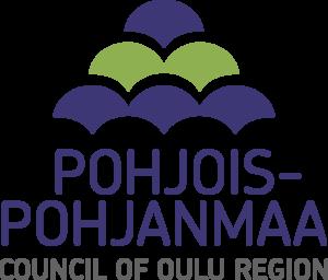 Logo, jossa teksti Pohjois-Pohjanmaa Council of Oulu Region